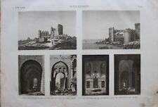DESCRIPTION EGYPTE, ALEXANDRIE, Tours de l'enceinte des arabes (EM VOL II PL.89)