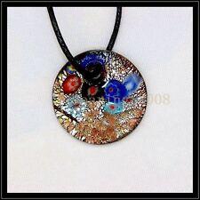 2016 New round lampwork Murano art glass beaded pendant necklace BB40