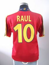 RAUL #10 Spain Home Football Shirt Jersey 1999-2002 (M)