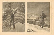 Christmas Sunrise, Afloat And Ashore, US Navy, Vintage 1883 Antique Art Print