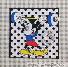 BonEful Boutique Disney VTG Mickey Mouse Head Boy Sew Block On S Applique Square