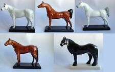 Horse porcelain figurine, handmade, animal figurine