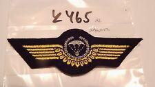 Armée Parachutistes insigne argentés sur noir essais 1 Pcs (k465)
