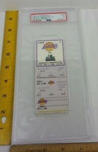 KOBE BRYANT debut Rookie Lakers Nov 3 1996 PSA graded ticket