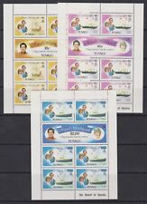 1981 Royal Wedding Charles & Diana MNH Stamp Sheetlets Tuvalu