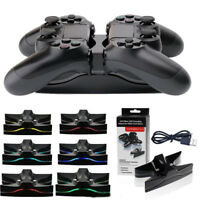 Dual USB Charger LED Dock Station Charging Stand For PS4 PlayStation4 Controller
