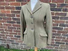 """Vintage Rosette Ladies/ Girls Green Keepers Tweed Hacking Jacket 34"""""""