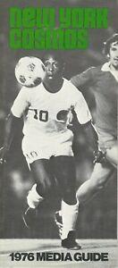 1976 New York Cosmos Media Guide, NASL, soccer
