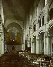 1910, Rochester (Kent) Cathedral Nave, England, Magic Lantern Glass Slide