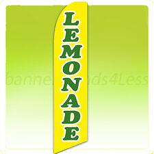Feather Flutter Swooper Banner Sign Tall Flag - Lemonade b