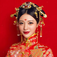 Traditional Chinese Style Bridal Hair Jewelry Set Wedding Headpiece Ornament