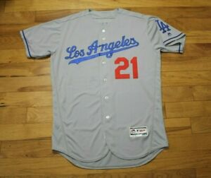 2016 Trayce Thompson Los Angeles Dodgers game used/Team issued jersey MLB Auth.