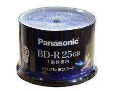 50 Panasonic Bluray BD R 25GB Blu ray 6X Speed Inkjet Printable Made in Japan