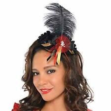 21dd9d92d9a Mini Pirate Tricorn Hat with Feathers   Skull on Hair Clips Ladies Costume  Hat