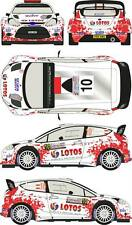 1/24 Decal Ford Fiesta WRC #10 Rally Poland 2014 for Belkits