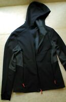 Decathlon Quechua Mens Softshell Treck Windwarm Hooded Jacket Black Size M