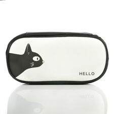 Cute Pen Pencil Case Large Capacity PU Pen Box School Stationery Cosmetic Bag
