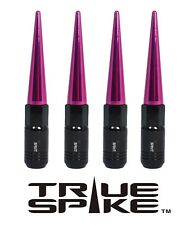 16 TRUE SPIKE 121MM 12X1.5 STEEL TUNER LUG NUTS W/ PINK EXTENDED SPIKES B