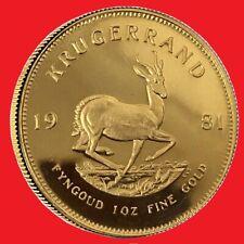 1981 1 oz Gold Krugerrand bullion coin.