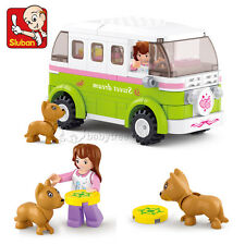 New Sluban Enlighten Brick City Building Blocks Travel Car Bus Toys #0523