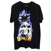 Dragon Ball Z Super Saiyan Silver Hair Goku Black Size Large 100% Cotton