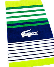 "LACOSTE Towel REGATE 36"" x 72"" New With Tag Lime Beach Towel"