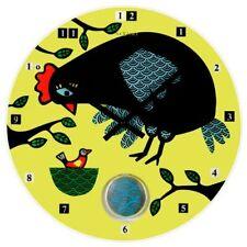Design Glass Wall Clock Kitchen Watch Yellow Nextime 8132 Round multicolour