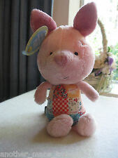 Hallmark Disney Soft Plush Piglet New Baby Gift Lovey -Quilted Floral Print New!