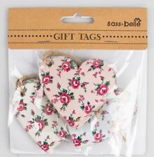 Set of 15 Petite Rose Gift Tags Assorted Vintage Shabby Chic Birthday Wedding