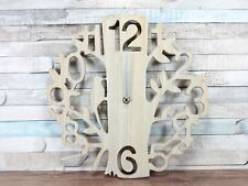 Wooden Tree & Bird Cut Out Detail Wall Clock