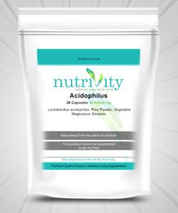 Probiotic Gut Flora Balance Lactobacillus Acidophilus Capsules Nutrivity UK