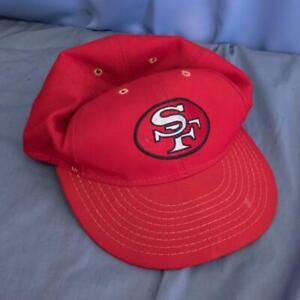 San Francisco 49'ers Football Baseball Hat Fitted Cap 6-7/8 Vtg dq