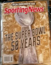 THE SUPER BOWL 50 YEARS SPORTING NEWS 2016 BRAND NEW IN COLECTORS SLEEVE