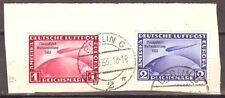 1933 Germany  1 & 2 Mark Zeppelin World EXPO Chicago flight used, € 750.00