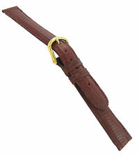 14mm deBeer Genuine Teju Lizard Bordo Hand Made Watch Band Strap Regular