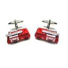 Fire Truck Firemen Cufflinks Red Gift + Free Box & Cleaner