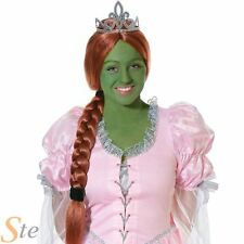 Ladies Princess Plaited Wig & Silver Tiara Fairy Tale Fancy Dress Accessory