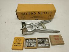 Stone Mfg Tattoo Outfit Standard with Ear Release & 2 sets of numbers 4 Space