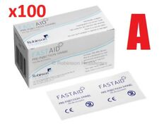 x100 FASTAID QUALITY SHELLAC NAIL TOP COAT RESIDUE REMOVER ALCOHOL WIPES SWABS