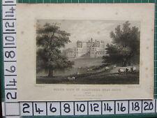 1829 datato antico stampa Nord punto di vista del belvidere ~ seggio di Lord dire & SELE Kent