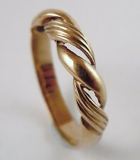 100% Genuine Vintage 9ct Solid Yellow Gold Stylish Dress Ring Sz 8 US