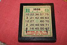 Vintage Church Of St. Leo Altoona Pennsylvania Bingo Card-Converted Key Holder