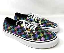 VANS Women  Authentic Iridescent Check Canvas Black Sneakers VN0A2Z5ISRY