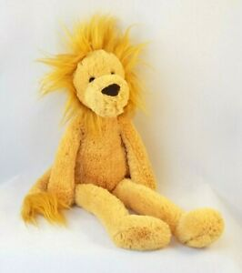Jellycat London Pitterpat Lion Plush Stuffed Animal Toy Long Legs Caramel Brown
