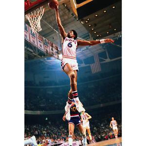 Julius Erving Dr J Dunks Basketball Silk Poster 12x18 24x36 inch 007