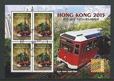 AUSTRALIA 2015 HONG KONG 2015 TRAINS, TRAMS FINE USED