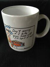 Maxine Hallmark Shoebox Don't Worry if I Bite Your Head Off 10 oz coffee Mug