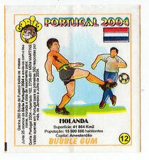 Portugese Gorila gum Wax Wrapper Euro 2004 - Team Colours & Flag - #12 Holland