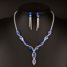 Fashion crystal necklace earrings two piece set Rhinestone necklace bride jewely