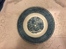 """Currier And Ives 5 5/8"""" Fruit Bowls """"The Old Farm Gate"""" berry dessert"""